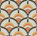Antique mosaic, seamless vector pattern