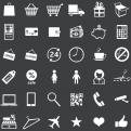 white shopping icons 2