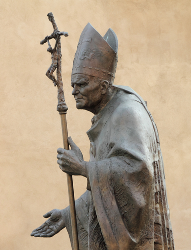 Statue of  Pope John Paul II  by Zemla ( Blessed John Paul or John Paul the Great,