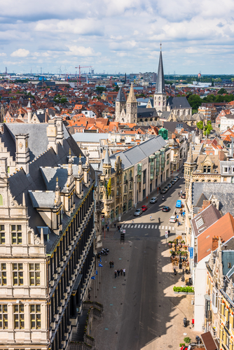 Cityscape of Ghent from the belfry